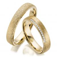 Rubin Trauringe 1606 Gelbgold Gold