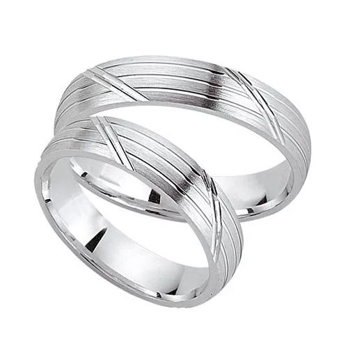 Schwarz Parnerringe aus 925er Silber - SW925-014