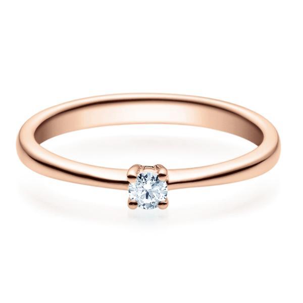 Rubin Verlobungsring 18008 Rotgold Solitär Ring