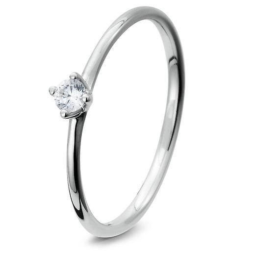 Breuning Verlobungsring aus Sterlingsilber 925 mit Zirkonia - 41/05278