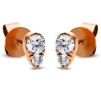 DiamondGroup Ohrstecker 18 kt Rotgold 2H574R8-1