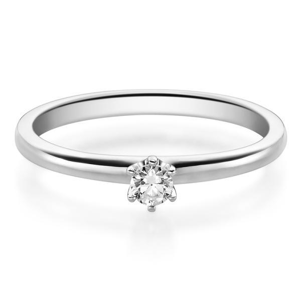 Rubin Verlobungsring 19002 Platin Solitär Ring