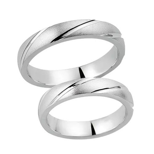 Schwarz Trauringe / Partnerringe 925-004D & 925-004H aus Silber 925