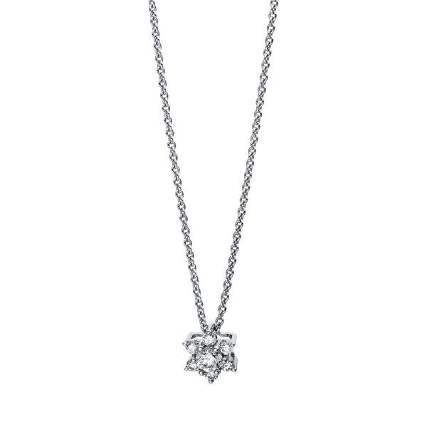 DiamondGroup Diamantcollier Collier 18 kt Weißgold Stern - 4E527W8-1