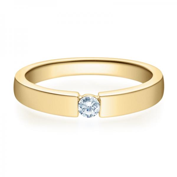 Rubin Verlobungsring 18012 Gelbgold Solitär Ring