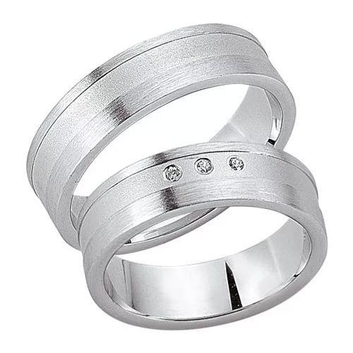 Schwarz Trauringe / Partnerringe 925-105D & 925-105H aus Silber 925