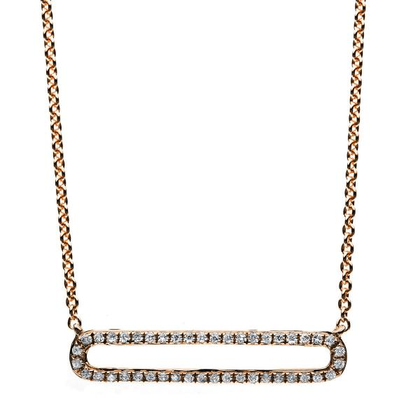 DiamondGroup Diamantcollier Collier 14 kt Rotgold - 4B028R4-1