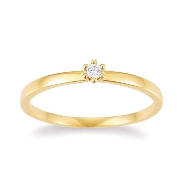 Palido Solitär Ring Gelbgold 585 F1302G