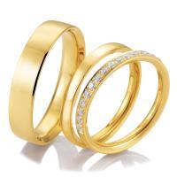 Breuning Trauringe Triset mit Memoire Ring 48/04722