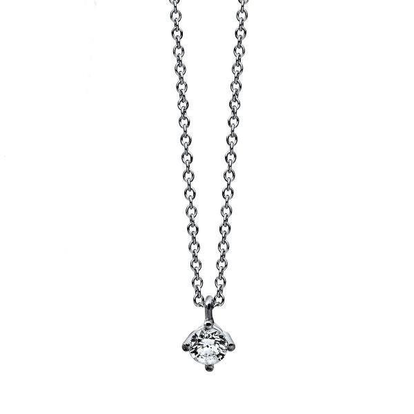 DiamondGroup Diamantcollier Collier 4er-Krappe 14 kt Weißgold - 4C773W4-4