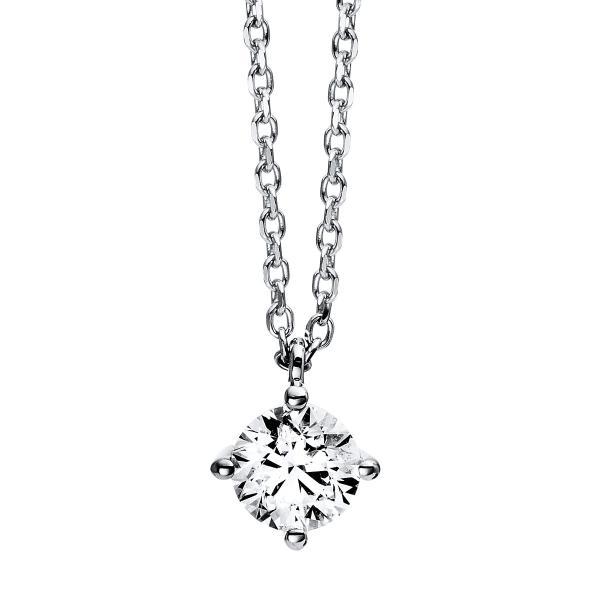 DiamondGroup Diamantcollier Collier 4er-Krappe 14 kt Weißgold - 4C778W4-4