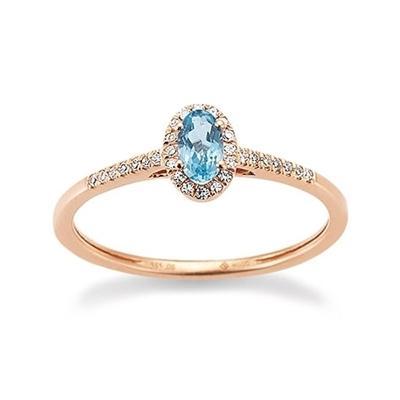 Ring Rotgold 585 Topas Brillant Palido K11614R