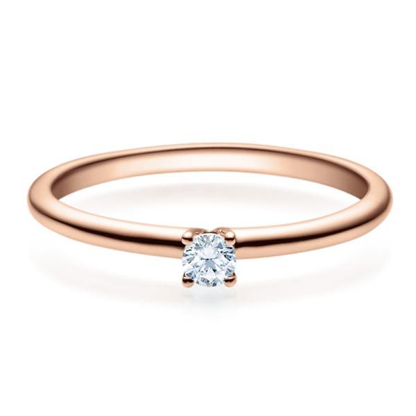 Rubin Verlobungsring 18018 Rotgold Solitär Ring 0.100 ct.