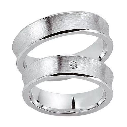 Schwarz Trauringe / Partnerringe 925-034D & 925-034H aus Silber 925