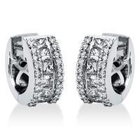 DiamondGroup Creolen aus 18 kt Weißgold 2I275W8-1