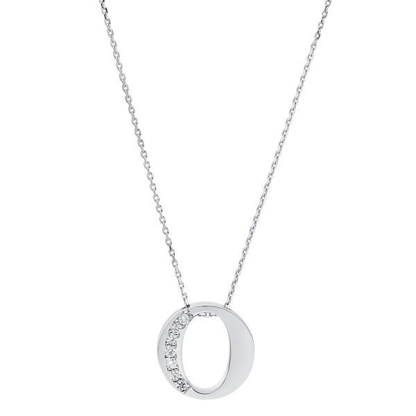 DiamondGroup Diamantcollier Collier 14 kt Weißgold O - 4A442W4-1