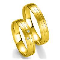 Breuning Trauringe 48/07141 & 48/07142 aus Gelbgold 750