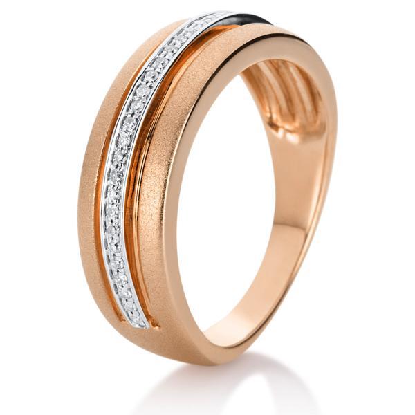 DiamondGroup Ring 14 kt Rotgold, mattiert + poliert - 1A134R454-1