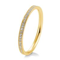 Memoire Ring 41/05643 Gelbgold 585 mit Brillanten 0,165 ct.