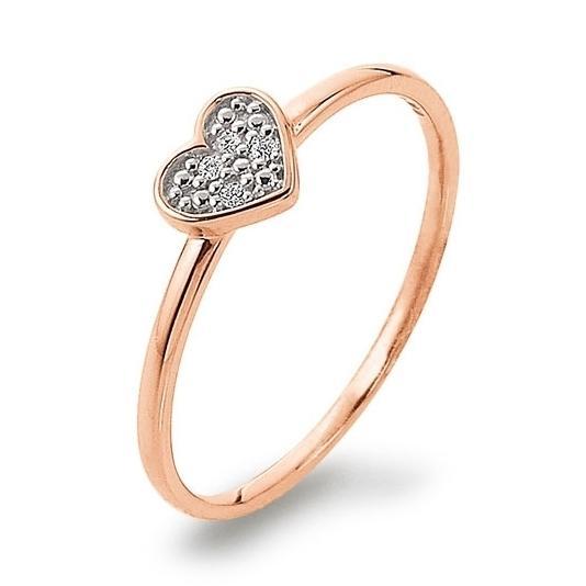 Ring mit Herz Rotgold 585 Brillant Palido K11238R Herzring Herzchen