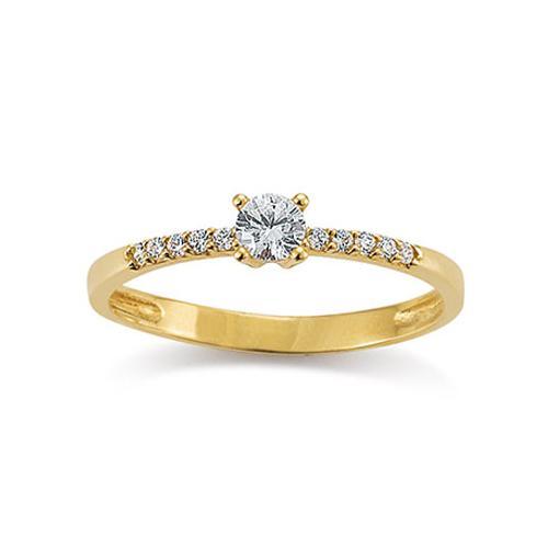 Ring Gelbgold 585 Zirkonia Palido K10900G