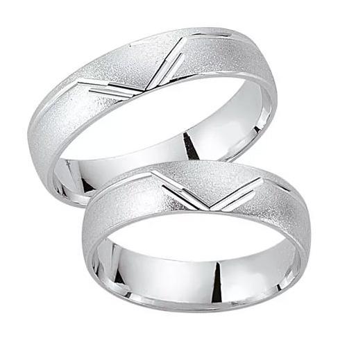 Schwarz Trauringe / Partnerringe 925-052D & 925-052H aus Silber 925