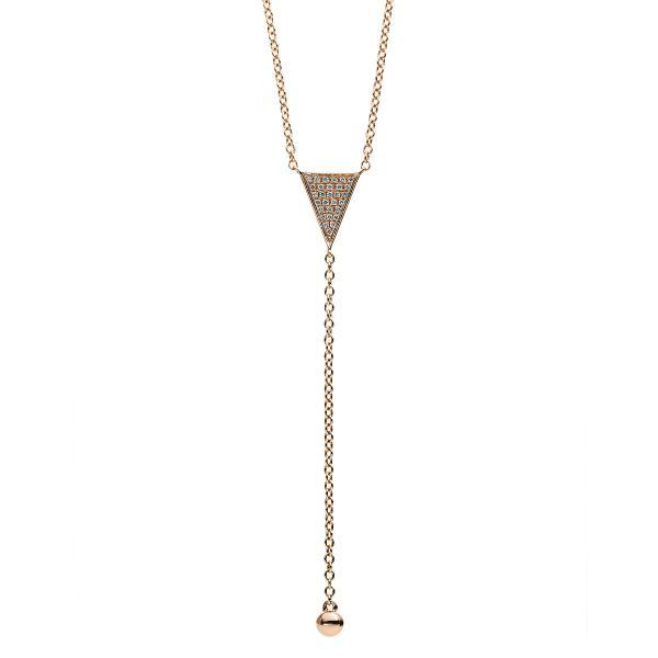 DiamondGroup Diamantcollier Collier 14 kt Rotgold - 4B165R4-1