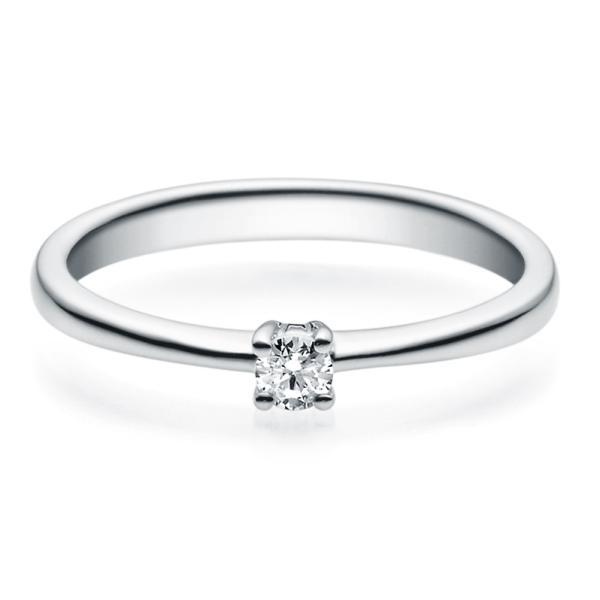 Rubin Verlobungsring 18008 Platin 950 Solitär Ring 0.100 ct.