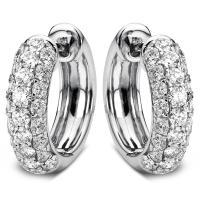 DiamondGroup Creolen aus 18 kt Weißgold 2A067W8-2
