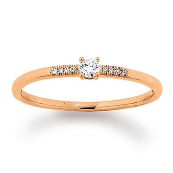First Love Ring Rotgold 585 Palido K11585