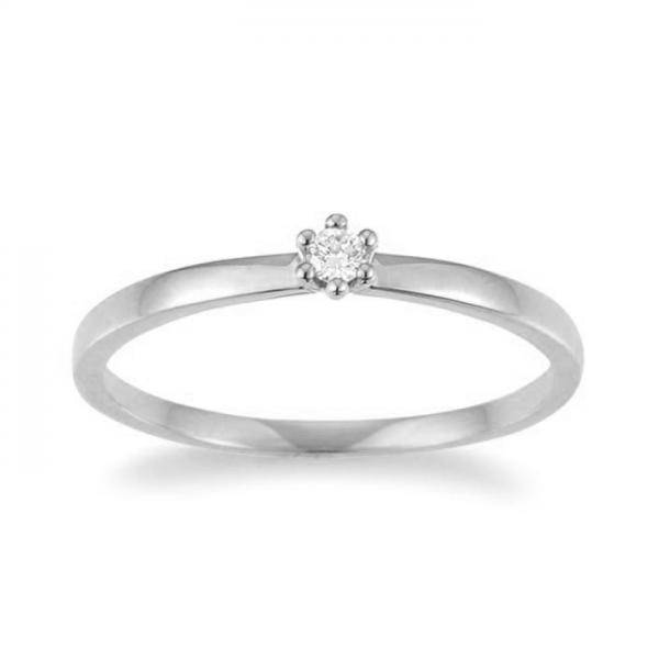 Palido Solitär Ring Weißgold 585 F1302W