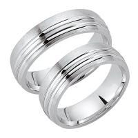 Schwarz Trauringe / Partnerringe Silber 925 SW925-021