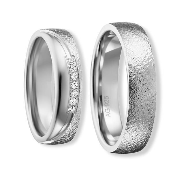 Freundschaftsringe Silber 925 Zirkonia Bedra 90057