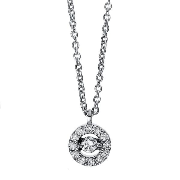DiamondGroup Diamantcollier Collier 18 kt Weißgold, mit Öse - 4D381W8-8