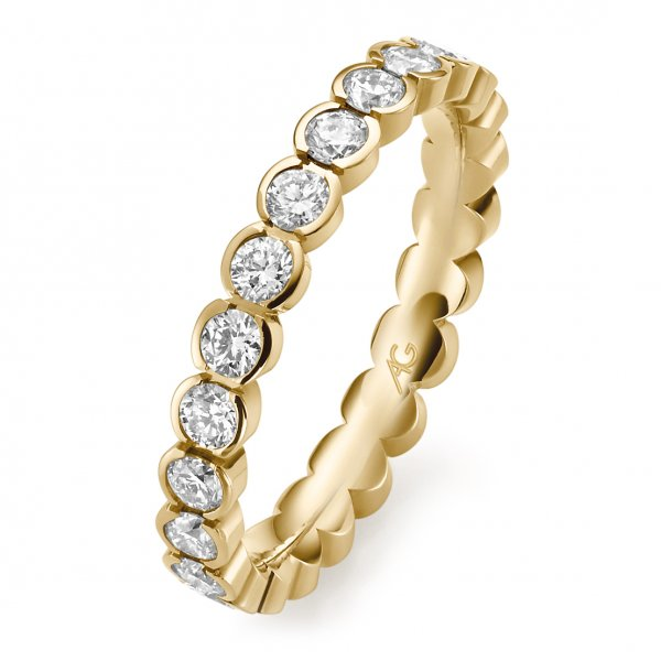 Memoire Ring Gelbgold 585 Brillant Gerstner 29764/3.1