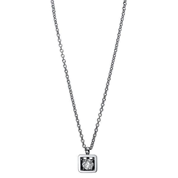 DiamondGroup Diamantcollier Collier 4er-Krappe 18 kt Weißgold - 4D983W8-2