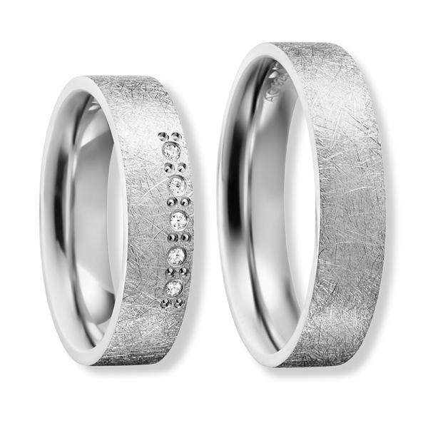 Freundschaftsringe Silber 925 Zirkonia Bedra 90060