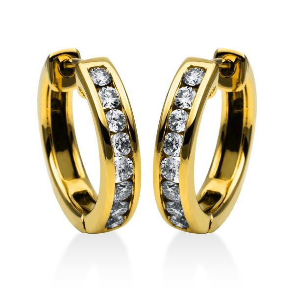 DiamondGroup Creolen aus 18 kt Gelbgold 2D245G8-2
