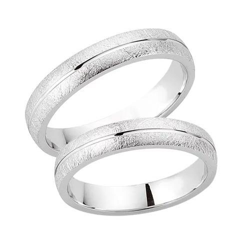 Schwarz Trauringe / Partnerringe 925-006D & 925-006H aus Silber 925