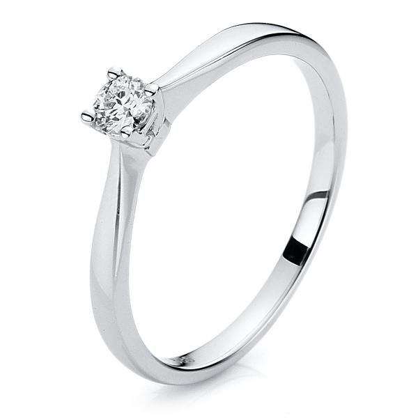 DiamondGroup Ring 4er-Krappe 14 kt Weißgold - 1A202W454-3