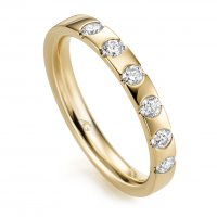 Memoire Ring Gelbgold 585 Brillant Gerstner 29761/3.1