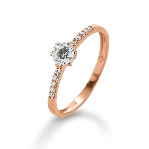 Ring Rotgold 585 Zirkonia Palido K11257R