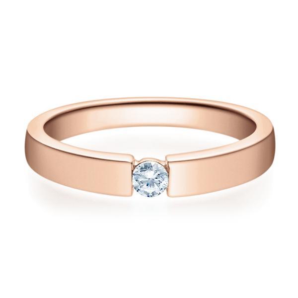 Rubin Verlobungsring 18012 Rotgold Solitär Ring Zirkonia