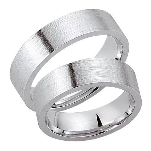 Schwarz Trauringe / Partnerringe Silber 925 SW925-022 Sterlingsilber feinmatt