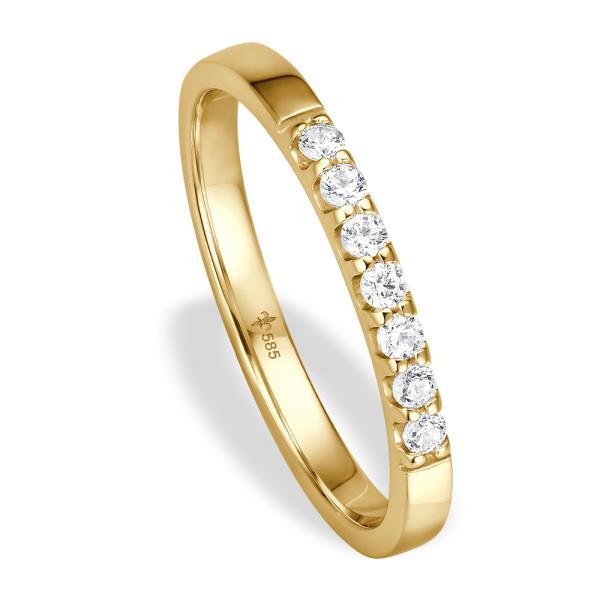 Giloy Vorsteckring / Memoire Ring Gelbgold TM02007G