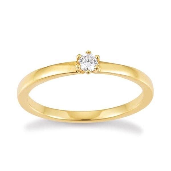 Palido Solitär Ring Gelbgold 585 F1305G