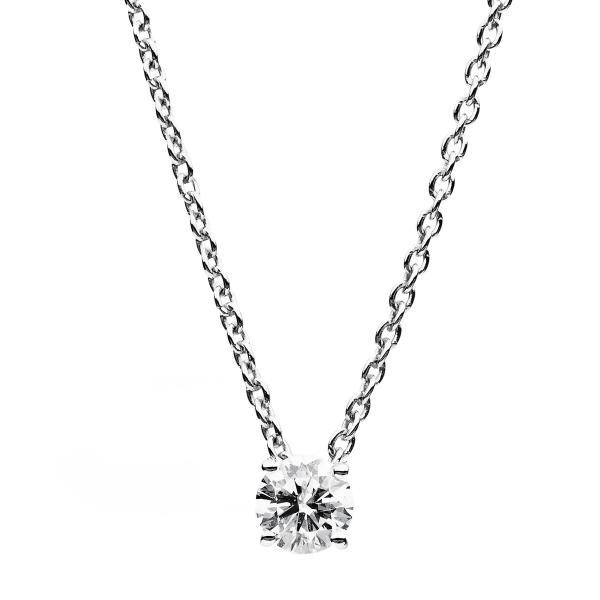 DiamondGroup Diamantcollier Collier 4er-Krappe 18 kt Weißgold, Ankerkette - 4B346W8-3