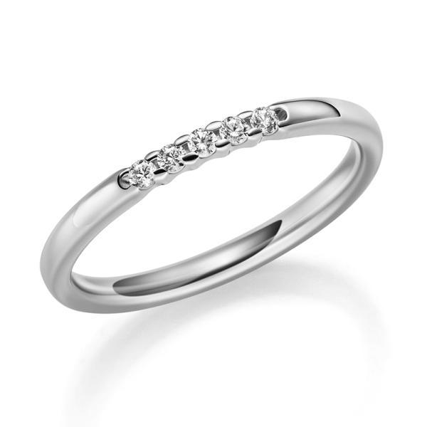Rubin 1060-34 Memoire Ring Platin Brillant