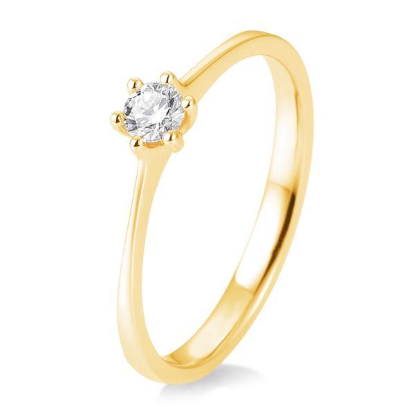 Breuning Verlobungsring 41/82143 aus Gelbgold 585 mit Brillant 0.150 ct.