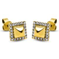 DiamondGroup Ohrstecker 14 kt Gelbgold 2H259G4-1